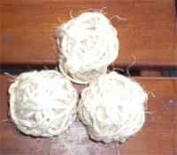 Jonglierbaelle aus Schnur wickeln
