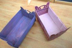 puppenwiege aus schuhkarton basteln im. Black Bedroom Furniture Sets. Home Design Ideas