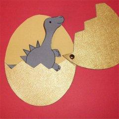 babysaurier im ei basteln im kidsweb.de, Einladungen