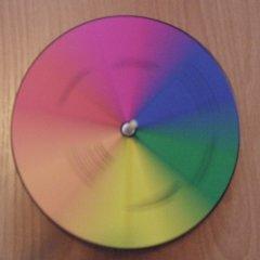 Farbkreisel dreht sich