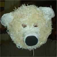Πολική αρκούδα έτοιμη μάσκα