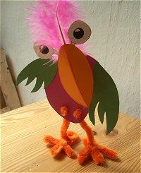schräge vögel basteln im kidsweb.de, Garten und erstellen