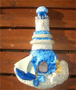 Leuchtturm aus salzteig basteln im for Leuchtturm basteln