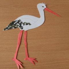 Storch Mit Beweglichem Schnabel Basteln Im Kidsweb De
